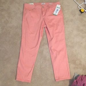 Jessica Simpson Pink Crop Jeans